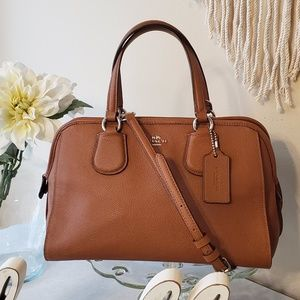 COACH F37138 Nolita Crossgrain Leather Satchel